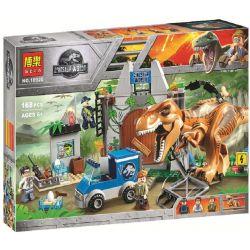 Bela 10920 Sheng Yuan 1082 (NOT Lego Jurassic World 10758 T. Rex Breakout ) Xếp hình Khủng Long Bạo Chúa Sổng Chuồng 150 khối