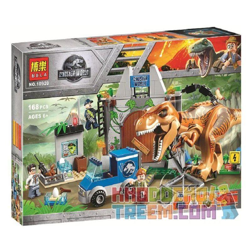 Bela 10920 Lari 10920 SHENG YUAN SY 1082 Xếp hình kiểu Lego JUNIORS T. Rex Breakout Jurassic World 2 Overlord Dragon Escape Khủng Long Bạo Chúa Sổng Chuồng 150 khối