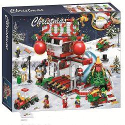 Bela 11085 Lari 11085 Jemlou 20063 Xếp hình kiểu Lego SEASONAL Christmas 2019 Toy House Giáng Sinh đón Chào Năm 2019 904 khối