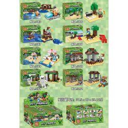 YILE 385 386 387 388 389 390 391 392 Xếp hình kiểu Lego MINECRAFT MY WORLD House Small Scene 8 8 Cảnh Nhỏ Nhỏ 448 khối