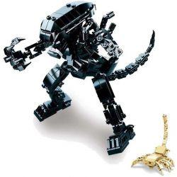 SLUBAN M38-B0720B B0720B 0720B M38B0720B 38-B0720B Xếp hình kiểu Lego ALIEN VS. PREDATOR Allens Head-shaped Battle, Blood Warrior Shaped Người Ngoài Hành Tinh 442 khối