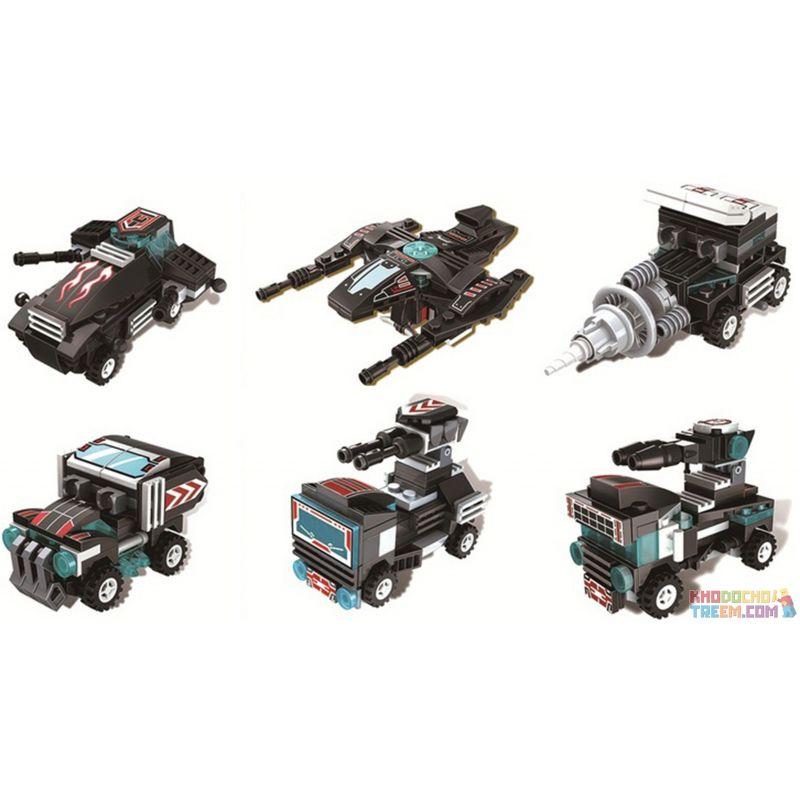 WINNER JEMLOU 8025 8025A 8025B 8025C 8025D 8025E 8025F Xếp hình kiểu Lego TRANSFORMERS Deformation Warrior 6 6 In 1 Deformation Warriors 6 Phong Cách 6 Trong 1 gồm 6 hộp nhỏ 438 khối