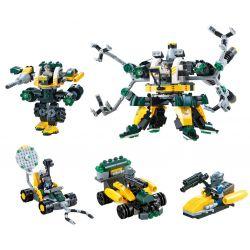 QIZHILE 5002 Xếp hình kiểu Lego TRANSFORMERS Robot Attacks 4 In 1 Combination Người máy tấn công kết hợp 4 trong 1 438 khối