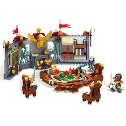SEMBO 3352 SD3352 3352 Xếp hình kiểu Lego CHRONICLES OF THE GHOSTLY TRIBE King Conference hội nghị bàn chiến lược của các vương quốc gồm 2 hộp nhỏ 439 khối