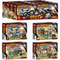 LELE 36032 36032-1 36032-2 36032-3 36032-4 Xếp hình kiểu Lego PUBG BATTLEGROUNDS Jedi Survival, Small Scene 4 Cảnh Nhỏ Trong Trò Chơi Sinh Tồn gồm 4 hộp nhỏ 434 khối
