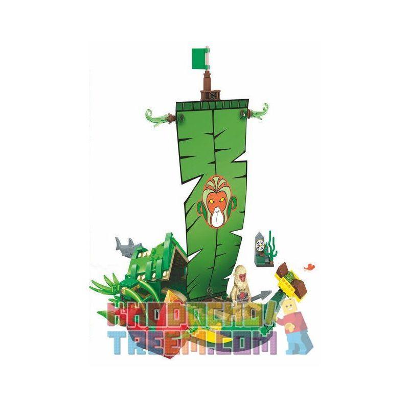 Winner 5043 Xếp hình kiểu Lego MONKIE KID Fantasy Westward Journey Banana Boat Wei Music Magic Westward Journey Thuyền Lá Của Hầu Vương 321 khối