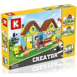 LE DI PIN 31032 Xếp hình kiểu Lego CREATOR 3 IN 1 3 In 1 Villa Biệt thự 3 trong 1 320 khối