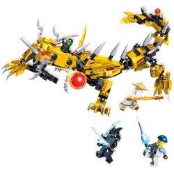 LELE 31066 Xếp hình kiểu THE LEGO NINJAGO MOVIE Phantom Ninja Is Extremely Flying Gold Dragon Bộ Lắp Ráp Rồng Vàng 431 khối