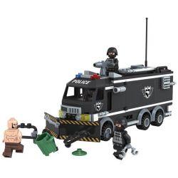 Winner 7002 Xếp hình kiểu Lego City SWAT Urban Special Police Riot Wrecker Xe Cảnh Sát Chống Bạo động 320 khối