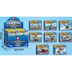 SEMBO SD9164 9164 SD9165 9165 SD9166 9166 SD9167 9167 SD9168 9168 SD9169 9169 SD9170 9170 SD9171 9171 Xếp hình kiểu Lego FUTURE POLICE Dragon Anger Carrier 8 Models Lực Lượng Cảnh Sát Liên Lạc gồm 8 h