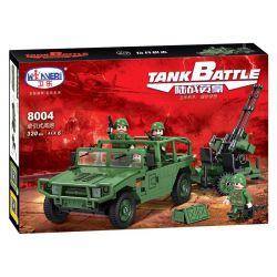Winner 8004 Xếp hình kiểu Lego TANK BATTLE TankBattle War Hero Towed Antiaircraft Gun Xe Quân Sự Kéo Súng 320 khối