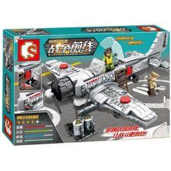 SEMBO 12781 Xếp hình kiểu Lego MILITARY ARMY Front Of The War 战争前线 偷袭珍珠港:零式战机 432 khối