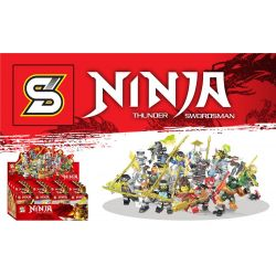Sheng Yuan 1110 (NOT Lego Ninjago Movie Ninja:thunder Swordsman ) Xếp hình 16 Nhân Vật Ninja Phantom 318 khối