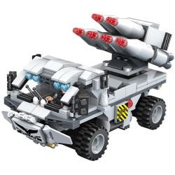 PanlosBrick 635010 Panlos Brick 635010 Xếp hình kiểu Lego GUN STRIKE GunStrike Counter-terrorism Rocket Flash Xe Tên Lửa Chống Khủng Bố 426 khối