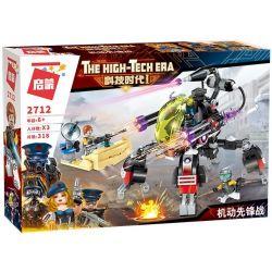 Enlighten 2712 Qman 2712 Xếp hình kiểu Lego THE HIGH-TECH ERA Technology Era I Motor Avatar Robot Công Nghệ Thế Hệ I 318 khối