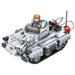 PanlosBrick 635013 Panlos Brick 635013 Xếp hình kiểu Lego GUN STRIKE GunStrike Counter-terrorism Fire Tank Xe Tăng Spitfire 451 khối