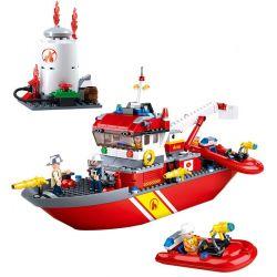 SLUBAN M38-0630 0630 M380630 38-0630 Xếp hình kiểu Lego FIRE RESCURE Fire Rescue Boat Fire Hero Pioneer Fire Ship Thuyền Cứu Hỏa Tiên Phong 429 khối