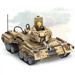 PanlosBrick 635017 Panlos Brick 635017 Xếp hình kiểu Lego GUN STRIKE GunStrike Counter-terrorism Anti-deforming Tank Xe Tăng đại Chiến 1435 khối