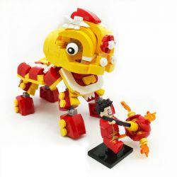 BINGAN 601001 Xếp hình kiểu Lego SEASONAL Chinese Lion Dance Múa Lân ngày Tết 341 khối