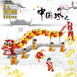 BINGAN 601009 Xếp hình kiểu Lego SEASONAL Lion Dance Đoàn Múa Lân 333 khối