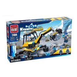 Enlighten 2404 Qman 2404 Xếp hình kiểu Lego KYANITE SQUAD Kyanite Squad Rock Sweeper Slim Squad Rock Cleavage Xe Gắp Đá 149 khối