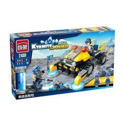 Enlighten 2401 Qman 2401 Xếp hình kiểu Lego KYANITE SQUAD Kyanite Squad Exploration Vehicle Slim Squad Sonon Detection Xe Thăm Dò 119 khối