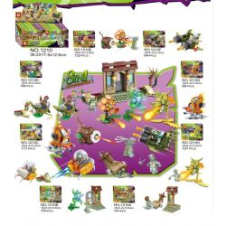 SHENG YUAN SY 1210 1210A 1210B 1210C 1210D 1210E 1210F 1210G 1210H Xếp hình kiểu Lego PLANTS VS ZOMBIES Plants Vs. Zombies 8 Egyptian Bulldozers, Hurricane Cabbage, Machine Insects, Super Fighters, Ma