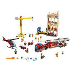 Lepin 02120 (NOT Lego City 60216 Downtown Fire Brigade ) Xếp hình Trạm Cứu Hỏa Thị Trấn 943 khối