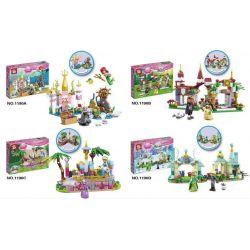 Sheng Yuan 1190 SY1190 (NOT Lego Disney Princess Princess ) Xếp hình 4 Lâu Đài Của Các Nàng Công Chúa Disney gồm 4 hộp nhỏ 789 khối