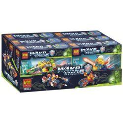 JEMLOU 20033 20033A 20033B 20033C 20033D 20033E 20033F Xếp hình kiểu Lego NEXO KNIGHTS Wake Knights 6 phi thuyền chiến đấu của các hiệp sĩ gồm 6 hộp nhỏ 595 khối