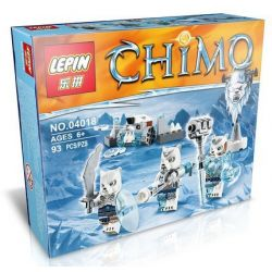 Lepin 04018 Lele 78088B Elephan JX70001B (NOT Lego Legends of Chima 70230 Ice Bear Tribe Pack ) Xếp hình Bộ Lạc Gấu Băng 75 khối