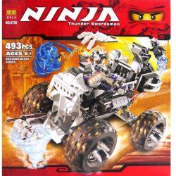Bela 9736 (NOT Lego Ninjago Movie 2506 Skull Truck ) Xếp hình Xe Tải Đầu Lâu 515 khối