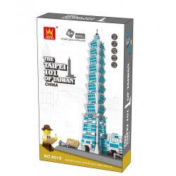 WANGE DR.LUCK 5221 8019 Xếp hình kiểu Lego MINI MODULAR The Taipei 101 Of Taiwan Taipei 101, China Trung Tâm Tài Chính Thế Giới đài Bắc 978 khối