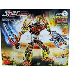 Decool 9299 Jisi 9299 Xếp hình kiểu Lego BIONICLE Toa Mata Nui Biochemical Warrior Maurg Warrior Người Máy Vàng Mata 366 khối
