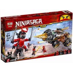 Lepin 06097 Lele 31183 Bela 11163 Sheng Yuan 1253 SY1253 (NOT Lego Ninjago Movie 70669 Cole's Earth Driller ) Xếp hình Máy Khoan Của Coles 587 khối