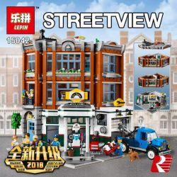 Lepin 15042 Sheng Yuan Sembo 1271 Dinggao DG006 (NOT Lego Creator Expert 10264 Corner Garage ) Xếp hình Hiệu Sửa Xe Góc Phố 2569 khối