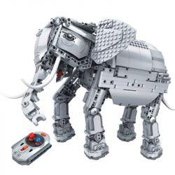 Winner 7107 Xếp hình kiểu Lego TECHNIC Splicing RC Elephant With Lights And Soun Technology Assembly Remote Control Elephant Voi Máy Biết đi, Kêu, Lắc đầu, Cong Vòi, Vẫy đuôi 1542 khối điều khiển từ x