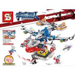SHENG YUAN SY 12302 SY1230 1230 Xếp hình kiểu Lego ULTRAMAN Ninja Thunder Swordsman Universe Giant Altman Universe Giant Ice Spread Dragon Victory God Eagle Phi Thuyền Khổng Lồ gồm 2 hộp nhỏ 1480 khối