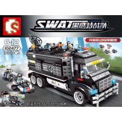 SEMBO 102477 Xếp hình kiểu Lego SWAT SPECIAL FORCE Black Eagle Special Police Mobile Command Base Đội Cảnh Sát Đặc Nhiệm SWAT 1164 khối