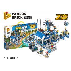 PanlosBrick 681007 Panlos Brick 681007 Xếp hình kiểu Lego Police Series Forest Police Station, Two Forms Of Air Cushions Đồn Cảnh Sát Rừng 939 khối