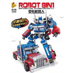 Panlosbrick 621018 (NOT Lego Transformers Robot 8In1 ) Xếp hình Robot Biến Hình 8 Trong 1 833 khối