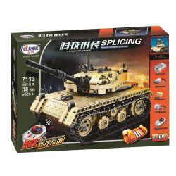Winner 7113 Xếp hình kiểu Lego TECHNIC Splicing Technology Assembly Remote Control Tank Xe Tăng 759 khối điều khiển từ xa