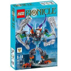 Decool 10704 Jisi 10704 XSZ KSZ 711-1 KSZ711-1 711-1 Xếp hình kiểu Lego BIONICLE Skull Warrior Biochemical Warrior 骷髅 Warrior Người Máy Xương 4 Tay 102 khối