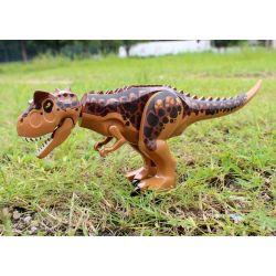 LELE L032 Xếp hình kiểu Lego JURASSIC WORLD Carnotaurus Gyrosphere Escape khủng long T-rex màu nâu 577 khối