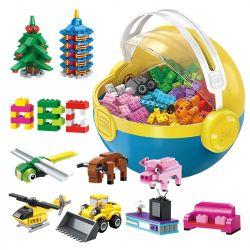 Enlighten 2902 Qman 2902 Xếp hình kiểu Lego CLASSIC Build N Learn Ball Leology Series Well-known Bóng Xếp Hình Học Tập 721 khối