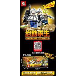 Sheng Yuan 7005 (NOT Lego PUBG Battlegrounds The War In Miramar ) Xếp hình Trận Chiến Sa Mạc gồm 4 hộp nhỏ 714 khối