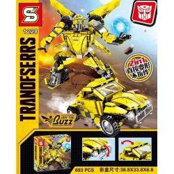 Sheng Yuan Sembo 1228 (NOT Lego Transformers Transformers People 2 In 1 ) Xếp hình Người Máy Biến Hình 2 Trong 1 693 khối