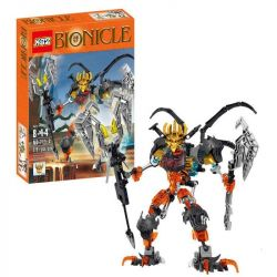 XSZ KSZ 711-2 Xếp hình kiểu Lego BIONICLE Mask Maker Vs. Skull Grinder robot mặt nạ cam 279 khối