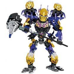 XSZ KSZ 612-3 Xếp hình kiểu Lego BIONICLE Onua - Uniter Of Earth chiến binh onua cầm rìu 217 khối