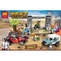 Lele 36049 (NOT Lego PUBG Battlegrounds Survival War ) Xếp hình Cuộc Chiến Sinh Tồn 569 khối